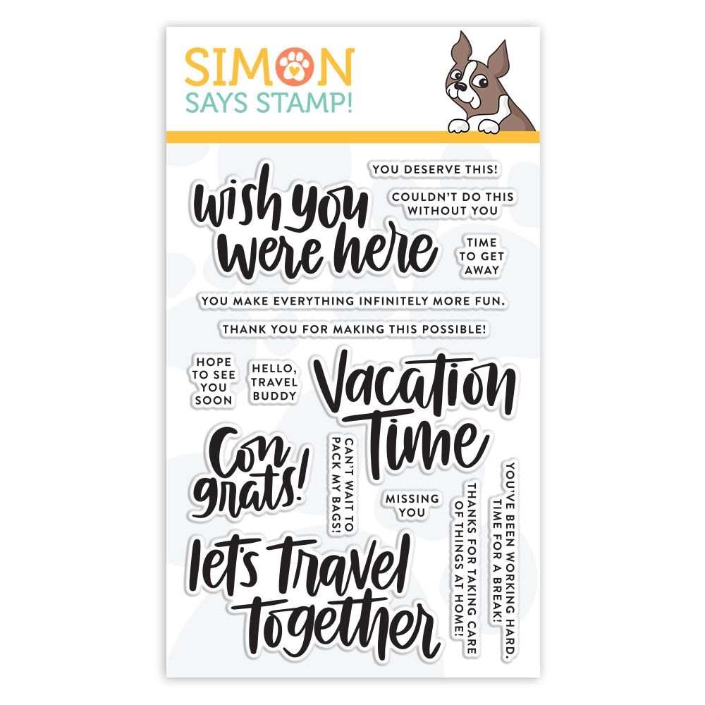 Simon Says Clear Stamps VACATION TIME sss101855 Good Vibes zoom image