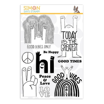 Simon Says Clear Stamps GOOD VIBES sss101874