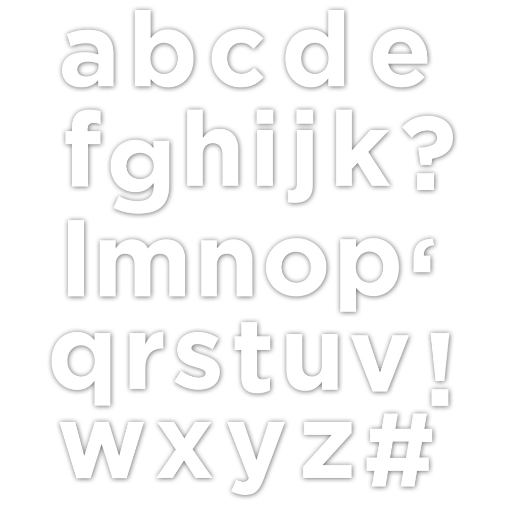 CZ Design Wafer Dies EVERETT SOLID LETTERS Czd27 Good Vibes zoom image