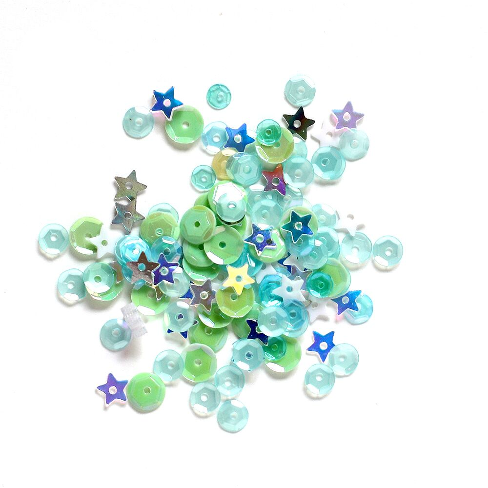 Simon Says Stamp Sequins SEA GLASS sesp18 Good Vibes