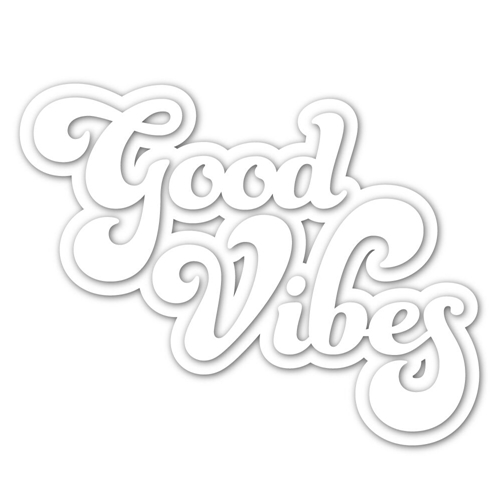 Simon Says Stamp GOOD VIBES Wafer Dies sssd111860 Preview Image