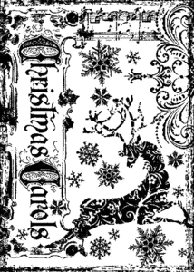 Tim Holtz Rubber Stamp REINDEER GAMES Christmas Stampers Anonymous P4-1370