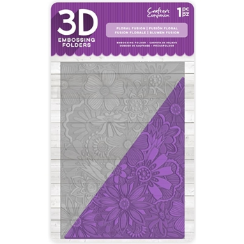 Crafter's Companion FLORAL FUSION 3D Embossing Folder ef5-3d-ffus