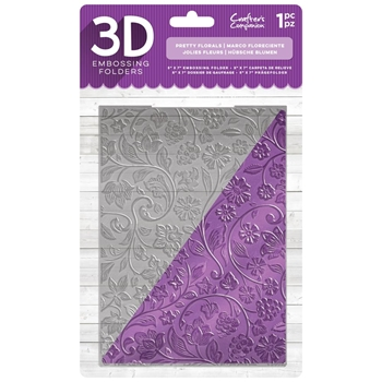 Crafter's Companion PRETTY FLORALS 3D Embossing Folder ef5-3d-pflo