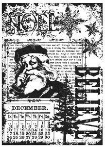 Tim Holtz Cling Rubber ATC Stamp CHRISTMAS MIRACLE Stampers Anonymous COM025