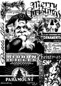 Tim Holtz Cling Rubber ATC Stamp FIRST CHRISTMAS Stampers Anonymous COM026