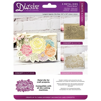 Crafter's Companion FLORAL SPRAY Die'sire Create A Card Die ds-cad-flsp