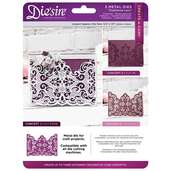 Crafter's Companion TRADITIONAL LACE Die'sire Create A Card Die ds-cad-trla