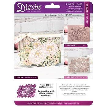 Crafter's Companion FLORAL BOUQUET Die'sire Create A Card Die ds-cad-flbo