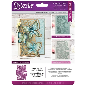 Crafter's Companion DELICATE WINGS Die'sire Create A Card Die ds-cad-dewi