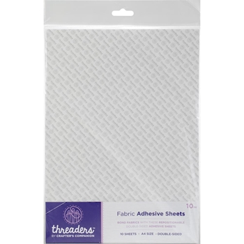 Crafter's Companion A4 FABRIC ADHESIVE SHEETS Threaders th-1093