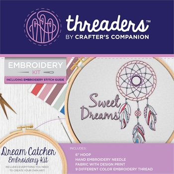 Crafter's Companion DREAM CATCHER Threaders Embroidery Kit th-1295
