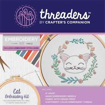 Crafter's Companion CAT Threaders Embroidery Kit th-1296