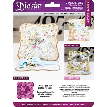 Crafter's Companion BUTTERFLY EASEL Die'sire Create A Card Die ds-cad-bute
