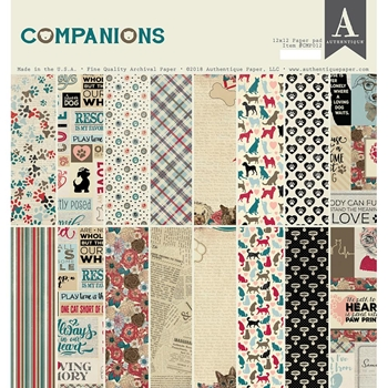 Authentique COMPANIONS 12 x 12 Paper Pad cmp012