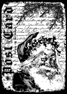 Tim Holtz Cling Rubber ATC Stamp SANTA LETTER Stampers Anonymous COM028