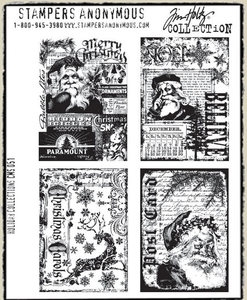 Tim Holtz Cling Rubber Stamps HOLIDAY COLLECTIONS Stampers Anonymous zoom image