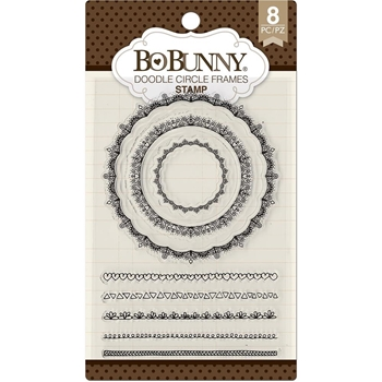 BoBunny DOODLE CIRCLE FRAMES Clear Stamps 7310252