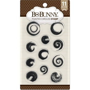 BoBunny PAINTED CIRCLES Clear Stamps 7310254