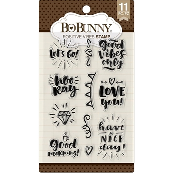 BoBunny POSITIVE VIBES Clear Stamps 7310255