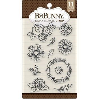 BoBunny SIMPLY FLOWERS Clear Stamps 7310258