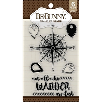 BoBunny TRAVELER Clear Stamps 7310184