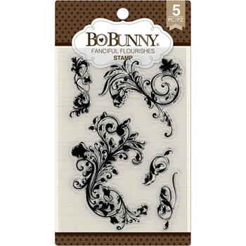 BoBunny FANCIFUL FLOURISHES Clear Stamps 7310179