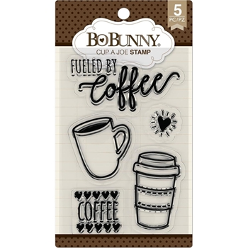 BoBunny CUP OF JOE Clear Stamps 7310183