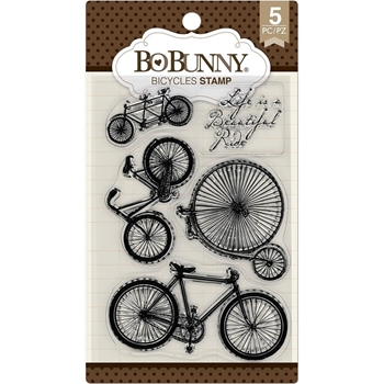 BoBunny BICYCLE Clear Stamps 7310181