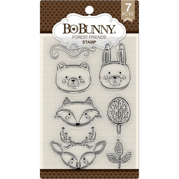 BoBunny FOREST FRIENDS Clear Stamps 7310182