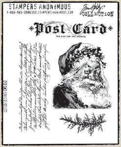 Tim Holtz Cling Rubber Stamps LETTER TO SANTA Christmas Stampers Anonymous CMS053 zoom image