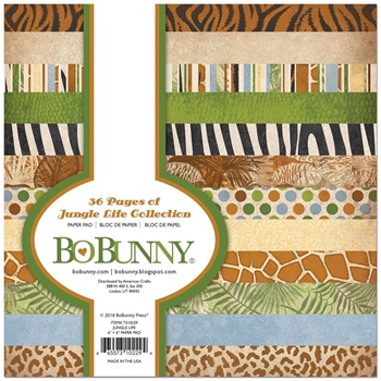 BoBunny 6 x 6 JUNGLE LIFE Paper Pad 7310229