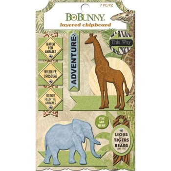 BoBunny JUNGLE LIFE Layered Chipboard 7310231