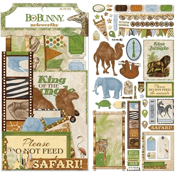 BoBunny JUNGLE LIFE Die Cuts Noteworthy 7310230