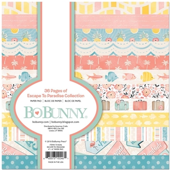 BoBunny 6 x 6 ESCAPE TO PARADISE Paper Pad 7310246