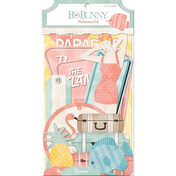 BoBunny ESCAPE TO PARADISE Die Cuts Noteworthy 7310248
