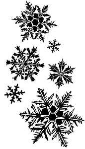 Tim Holtz Rubber Stamp FLURRIES Snowflakes Stampers Anonymous K3-1372 Preview Image