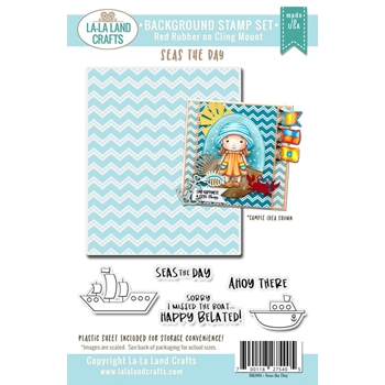 La-La Land Crafts Background Cling Stamp SEAS THE DAY Set BK006