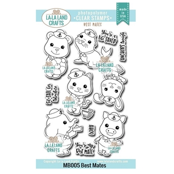 La-La Land Crafts Clear Stamps BEST MATES MB005