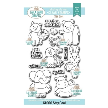La-La Land Crafts Clear Stamps STAY COOL CL006