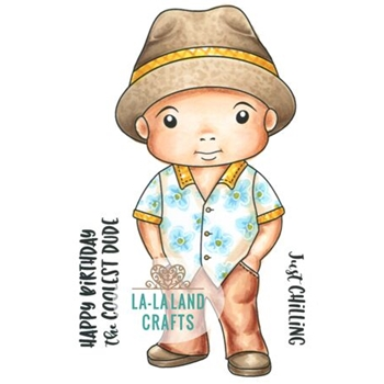 La-La Land Crafts Cling Stamp VACATION LUKA 5389