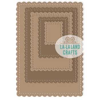 La-La Land Crafts SCALLOPED RECTANGLES Dies 8394
