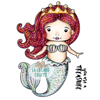 La-La Land Crafts Cling Stamp MERMAID PRINCESS MARCI 5383