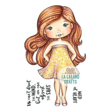La-La Land Crafts Cling Stamp SUMMER DRESS MOLLI 2030