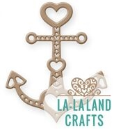 La-La Land Crafts HEART ANCHOR Die 8389