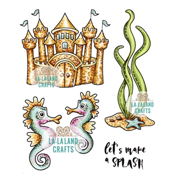 La-La Land Crafts Cling Stamp MAKE A SPLASH 5384