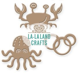 La-La Land Crafts SEA CRITTERS Dies 8385