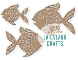 La-La Land Crafts FISHES Dies 8386