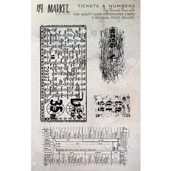 49 and Market TICKETS AND NUMBERS Clear Stamp Set PB-87698*