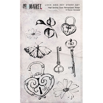 49 and Market LOCK AND KEY Clear Stamps SR-87667